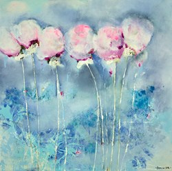 Delicate II by Emilija Pasagic - Original Painting on Box Canvas sized 30x30 inches. Available from Whitewall Galleries